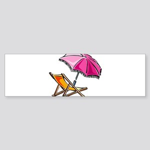 BEACH CHAIR [3] Sticker (Bumper)